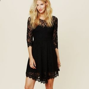 Free People | Black Lace Dress